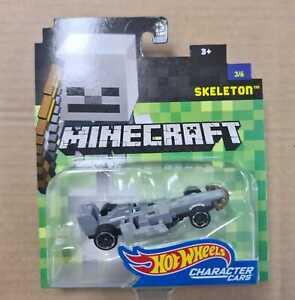 Hot Wheels Minecraft Character Cars. Skeleton  3/6 DXT24 DMH73 Mojang