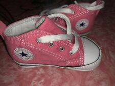 Converse All Star ~ Infant Baby Kids Pink Crib Shoes Girl's  EUC ~ 3