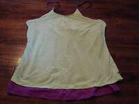 Nike Dri-Fit Women's Sports Bra Tank Top Large Yellow Purple Running Yoga
