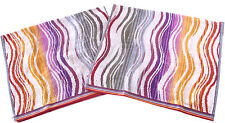 MISSONI HOME DUE ASCIUGAMANI OSPITI TWO HAND TOWELS GIFT PACKAGING PEGGY 159