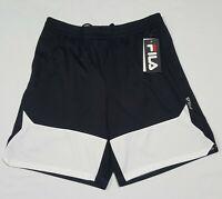 Mens Fila Basketball- Running Shorts Fitness Pockets Black white