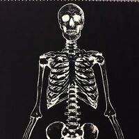 PNL133 Glow in the Dark Skeleton Halloween Quilt Cotton Quilting Fabric Panel