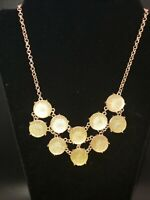 Gorgeous Shimmering Gold Tone Chunky Statement Necklace