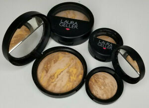 Laura Geller Face Powder Makeup Foundation Bronzer Glow Tan MEDIUM Coverage