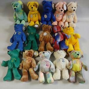 Lot 15 Original State Quarter Bears Timeless Toys Beanies Plush Collectible