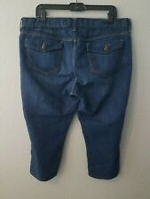 OLD NAVY Womens Size 16 Mid Rise Blue Jeans The Flirt Cropped Capri