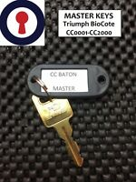 Master key Baton Triumph BioCote CC0001-CC2000 Pedestal Desk locks 1st P&P