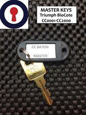 Clé Maîtresse baton Triumph Biocote CC0001-CC2000 Caisson serrures 1st p&p
