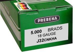Prebena Stauchkopfnägel Brads Nägel Type J J32CNKHA  5.000 St für 2XR J50 Nagler