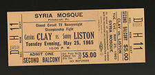 1965 CASSIUS CLAY SONNY LISTON CLOSED CIRCUIT TV SYRIA MOSQUE PITTSBURGH TICKET