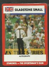 AUSTRALIA 1990 STIMOROL GUM GLADSTONE SMALL CRICKET TRADE CARD No 61