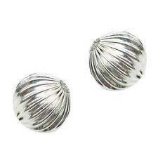 10 Perles métal strier 14 mm