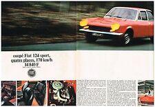 E- Publicité Advertising 1968 (2 pages) Le Coupé Fiat 124 sport