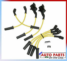 2 IGNITION COIL+IGNITION WIRES for YUKON ESCALADE SIERRA SERIE V8 4.8L 5.3L 6.0L