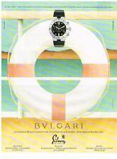 PUBLICITE ADVERTISING   1995   BULGARI  collection MONTRE DE PLONGEE