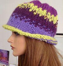 Hand Knit Hat Beanie Designer Fashion Cool Sparkle Stylish Unique Hip Bohemian