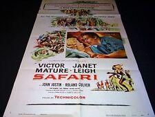 SAFARI victor mature affiche cinema jungle afrique 1956