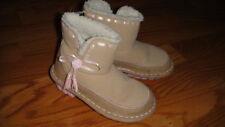 Crocs Girls 9 Brown W/ Ties Boots