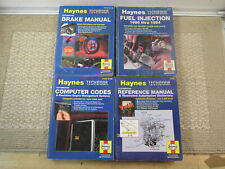 New listing Lot of 4 Haynes Techbook Brake Fuel Injection Computer Codes Reference Manual