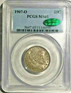 1907-O 25c. Barber Quarter. PCGS MS65. CAC.