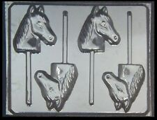 Large Horse Head Lollipop Chocolate Candy Mold #609 -NEW