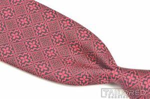 """HERMES 5497 UA Pink Geometric 100% Silk Mens Luxury Tie - 2.875"""""""