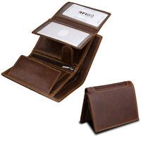 Vintage Mens Real Leather Wallet RFID Blocking Credit Card Holder Bifold Purse