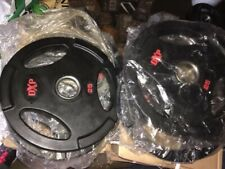 DXP Olympic Weight Plates. Rubber coated $2.15/lbs. 25lbs. single plate