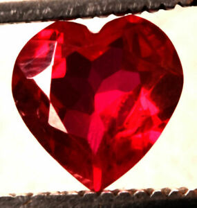 5.20 Cts. Natural Mozambique Red Ruby Heart Cut Certified Gemstone