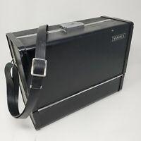 Vintage YASHICA Black Hard Sided CAMERA CASE Shoulder Strap Box