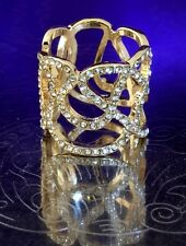 Authentic Disney Parks Ring Gold Tone Pave Set Crystals Fit for a Princess 4m