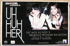 UH HUH HER 2008 Gig POSTER Portland Oregon & Seattle Washington Concert
