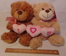 Couple Bears Plush NEW Pair I Love You Stuffed Animal Heart His & Her Set Gift