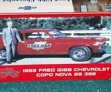 GMP/ACME 1968 CHEVY COPO NOVA FRED GIBB w DISPLAY BOX1/43 VHTF