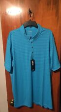 NWT Men's adidas Golf Travel Elements Polo  Light Blue Size 2XL. Msrp $70.00