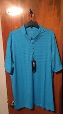 Nwt Men's adidas Golf Travel Elements Polo Light Blue Size 2Xl. Msrp $70.00