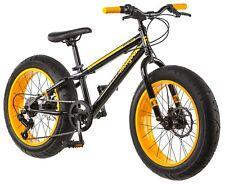 """Mongoose 20"""" Boys Fat Tire Mountain Bike Black/Yellow R1746"""