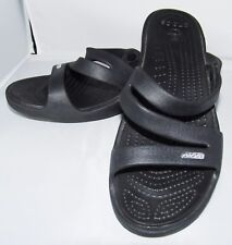 Crocs Womens Black Slip On Sandals Shoes 10 Summer Beach Water Slides