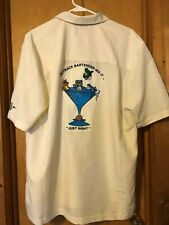 Outback Steakhouse Bartender Cubavera Shirt Size Large embroidered Free Shipping