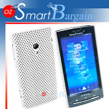 WHITE MESH Cover Case For Sony Ericsson X10 X10i + Film