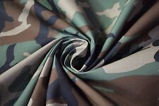"""Woodlands Military Camo Polyester Cotton Duck 60""""W Camouflage Fabric Apparel"""