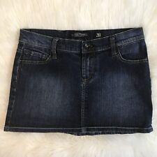 Ed Hardy by Christian Audigier Denim Mini Jean Skirt Size 28 Rhinestones PANTHER