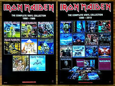 IRON MAIDEN The Complete Vinyl Collection 1980-88 | 1990-2015 Ltd Ed RARE Poster