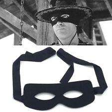 Noir Masque Yeux Adulte Homme Bandit Lone Ranger Zorro Costume Halloween Robe Fantaisie