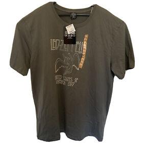 LED ZEPPELIN 1977 TOUR Retro Rock T Shirt 4XL Brand New (Free Aus Post)
