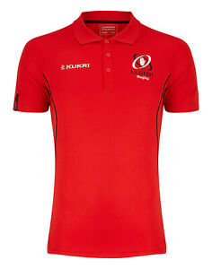 Ulster Rugby Polo Shirt Men's Kukri Rugby Performance Training Polo - Red - New