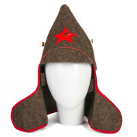 Budenovka Buddeny Cap Red Army Soviet Cavalry Military Hat w/ Red Star Pin USSR