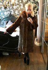 Top quality ladies Eastern Gray squirrel brown fur mid length COAT JACKET. Large