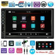 Double 2 DIN Car Stereo MP5 Player 7 inch Bluetooth USB Radio Receiver In Dash