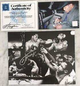 JOE FRAZIER Autograph Signed Photo 8x10 v Ali World Heavyweight Boxing Proof COA